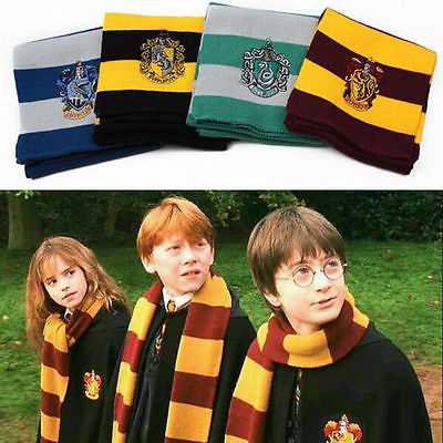 17CM-150CM-New-Fashion-4-Color-College-scarf-Harry-Potter-Gryffindor-Series-scarf-With-Badge-Personality
