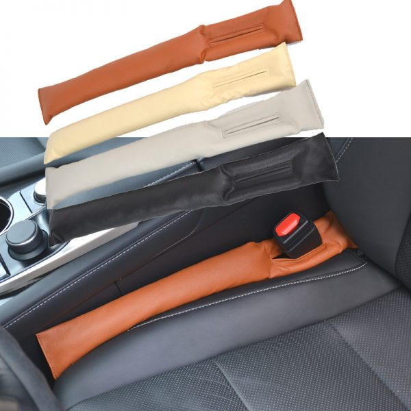 1PC-PU-LEATHER-FRONT-CAR-SEAT-GAP-STOPPER-LEAK-PROOF-STOP-PAD-FILLER-SPACER-MAT-CUSHION