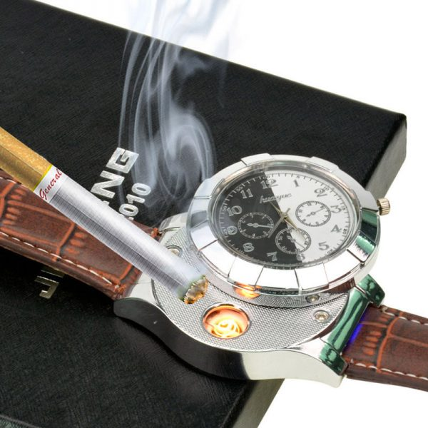 F667-Fashion-Rechargeable-USB-Lighter-Watches-Electronic-Men-s-Casual-Quartz-Wristwatches-Windproof-Flameless-Cigarette-Lighter