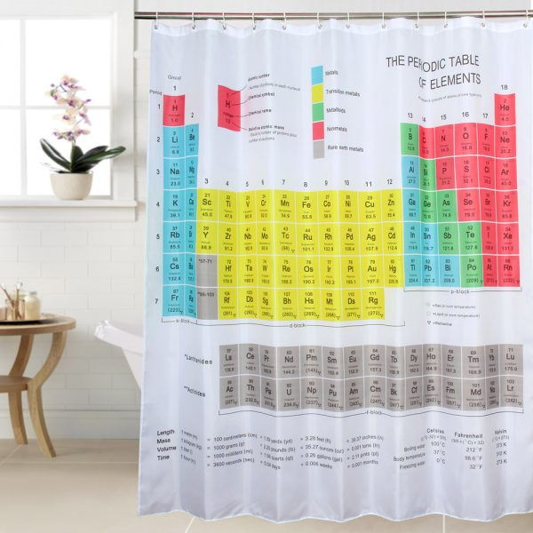Fabric-polyester-BIG-BANG-theory-periodic-table-shower-curtain-waterproof-thicken-shower-curtain-180cm-x180cm