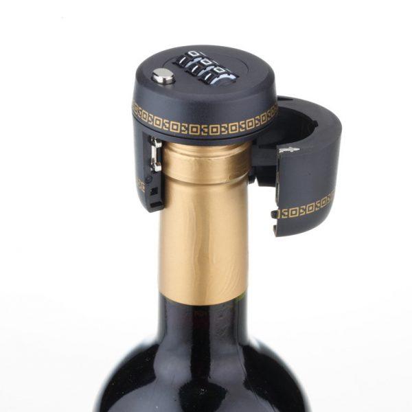 Wine-Lover-lock-106-Lock-for-3-Digit-Combination-Locks-Black-Plastic-Bottle-Password-Lock-Red