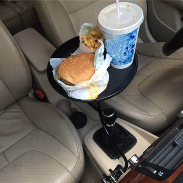 black-pink-white-Car-food-tray-folding-dining-table-drink-holder-car-pallet-back-seat-water-1